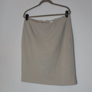 Worthington Stretch Beige Pencil Skirt Size 14